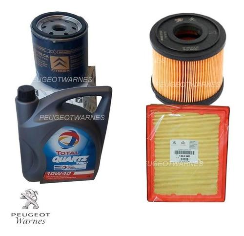 kit 3 filtros + aceite peugeot 206 hdi 2.0 con bomba siemens