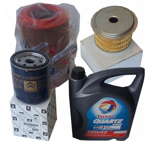 kit 3 filtros orig + aceite citroen xsara 1.9 t diesel 95/97