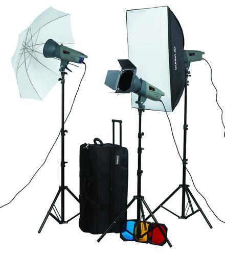 kit 3 flash estudio 300w visico y accesorios