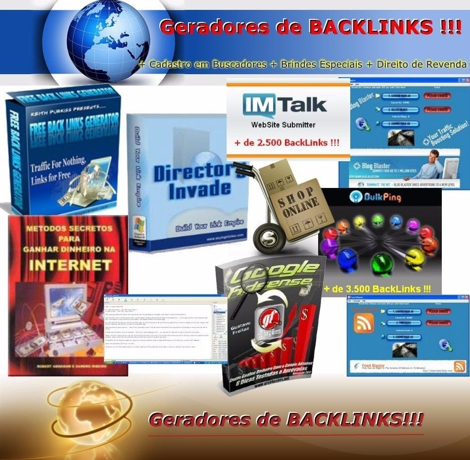 d961e253af5 Kit 3 Geradores De Backlinks+gerador De Views Youtube - R  40