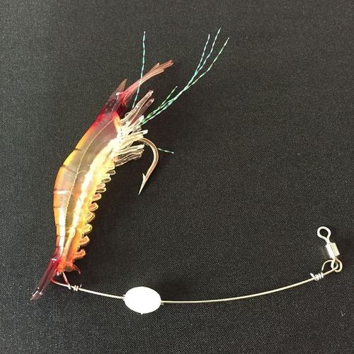 kit 3 iscas artificiais camarão grande 9cm taíra tucunaré