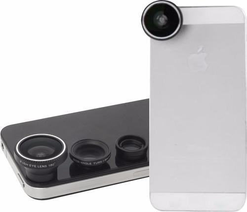 kit 3 lentes para celular - ojo de pez magnetico fotografias