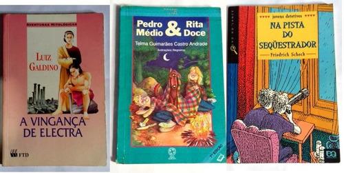 kit 3 livros infanto-juvenis