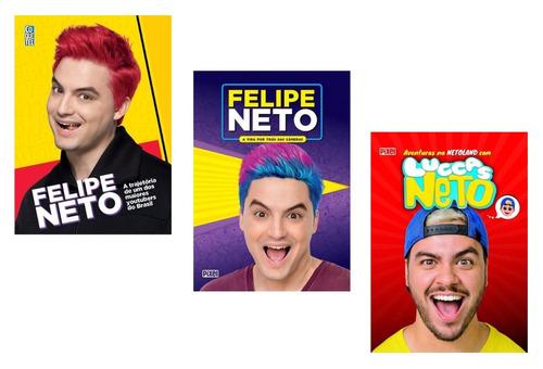 kit 3 livros irmãos neto - felipe neto e luccas neto !