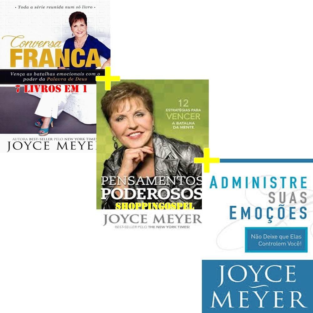Kit 3 Livros Joyce Meyer Pensamentos Poderosos E Mais R 8748 Em