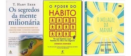 kit 3 livros segredos da mente milagre poder do habito