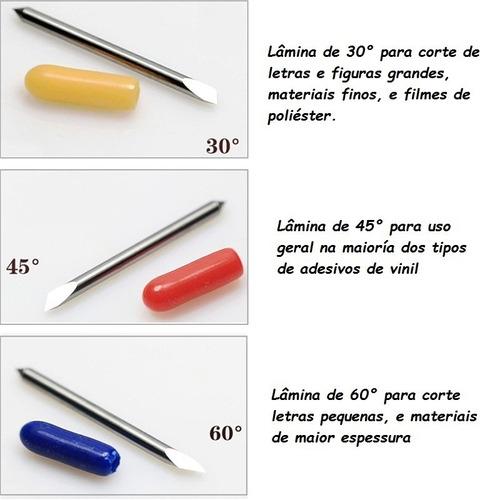 kit 3 lâminas p/plotter recorte foison, 45°, 30°, ou 60°