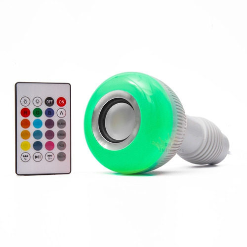 kit 3 lâmpada bluetooth led 12w music rgb caixa de som