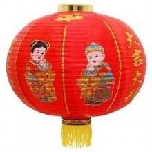 kit 3 luminária oriental teto chinesa náilon deuses da sorte