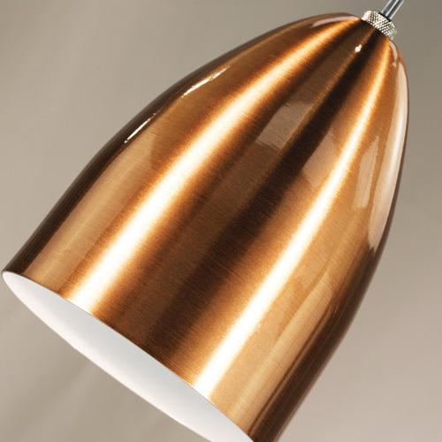 kit 3 lustres pendentes cone de aluminio tom cobre c/ e-27