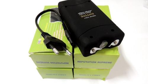 kit 3 máquina aparelho de choque lanterna potênte a melhor