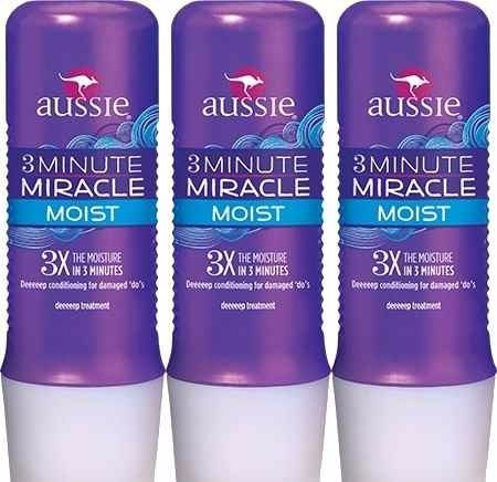 kit 3 máscara aussie moist 236ml 3 minute miracle 236ml