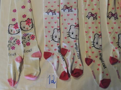 kit 3 meia calça infantil hello kitty 9-12 cod 12