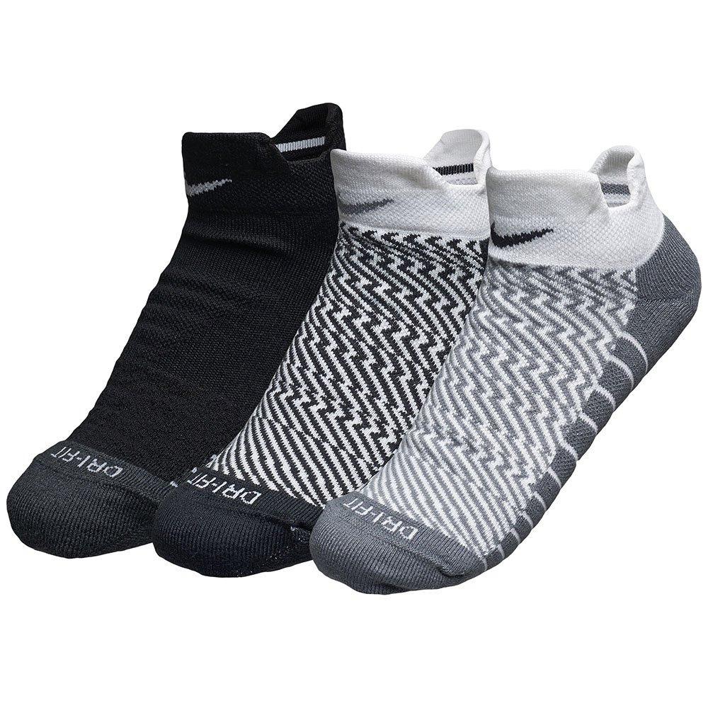 30d0b78719 kit 3 meias nike cano baixo dri-fit tecnologia tênis preto. Carregando zoom.