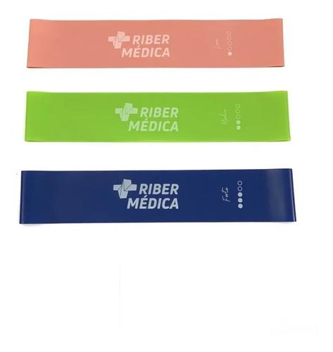kit 3 mini band faixas elásticas 25x5 thera band ribermedica