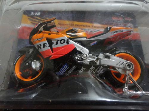 kit  3 miniaturas moto gp honda repsol/team spains/galouises