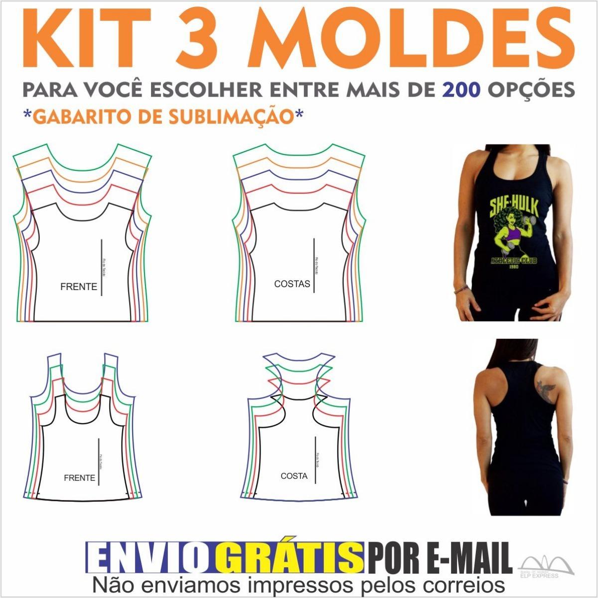02f47544f8 Kit 3 Moldes De Roupas A Sua Escolha. Camisas