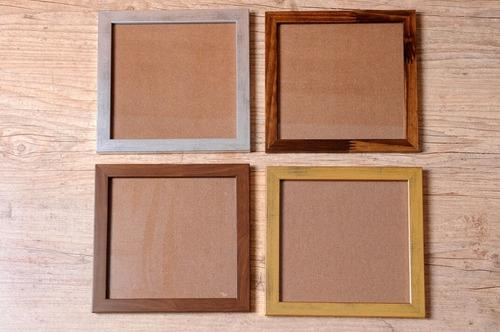 kit 3 molduras 20x20 com vidro