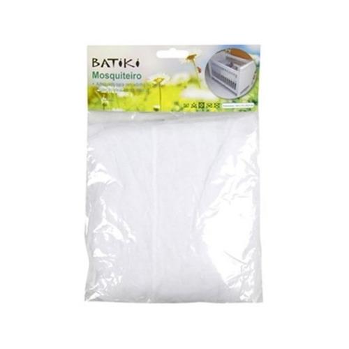 kit 3 mosquiteiro p/ berço branco insetos moscas protecao