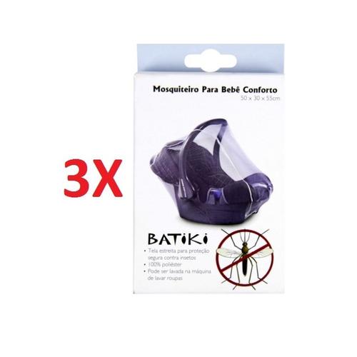 kit 3 mosquiteiro para bebe conforto mosquitos pernilongos