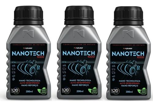 kit 3 nanotech 1000 condicionador de metais koube