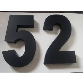 Kit 3 Números Residencial Aço Inox Preto Fosco 12 Cm