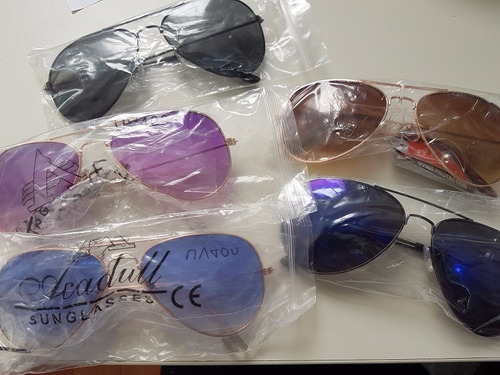kit 3 óculos de sol aviador infantil menina menino crianças