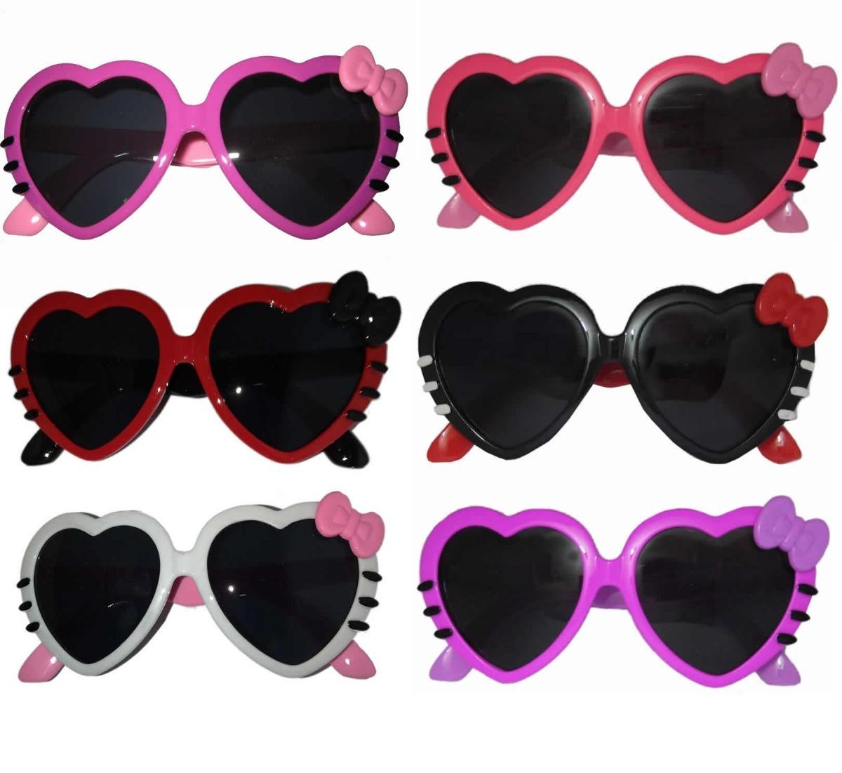 kit 3 óculos de sol coração infantil menina bebê + case. Carregando zoom. cb8b4053da