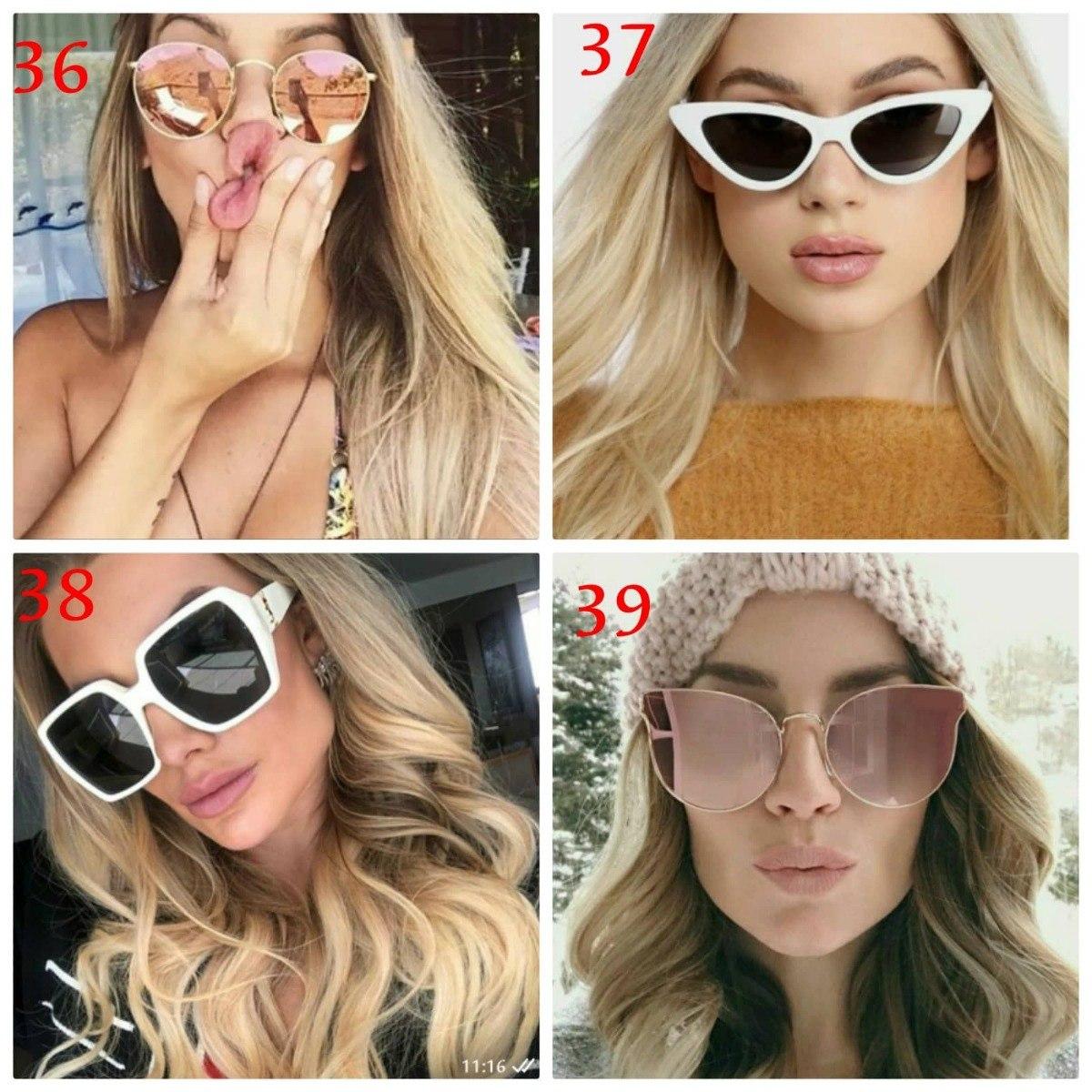 kit 3 óculos de sol feminino estiloso espelhado aviador moda. Carregando  zoom. 566e4195cf