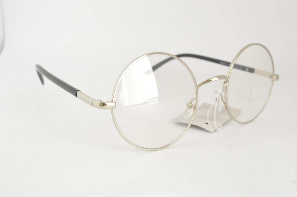 Kit Óculos redondo grau unissex dourado branco e prata jpg 1200x798 Oculos  redondo dourado feminino a67dd2e0d6