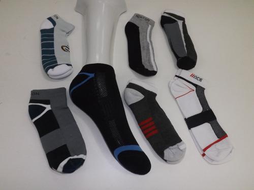 kit 3 pares de meias  mas/fem