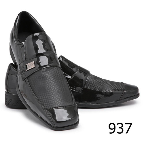 kit 3 pares de sapato social elegance verniz schiareli