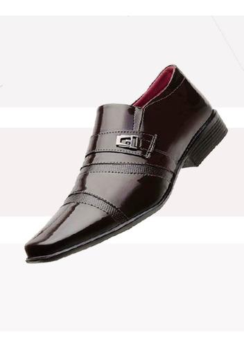 kit 3 pares de sapato verniz social masculino *frete grátis*