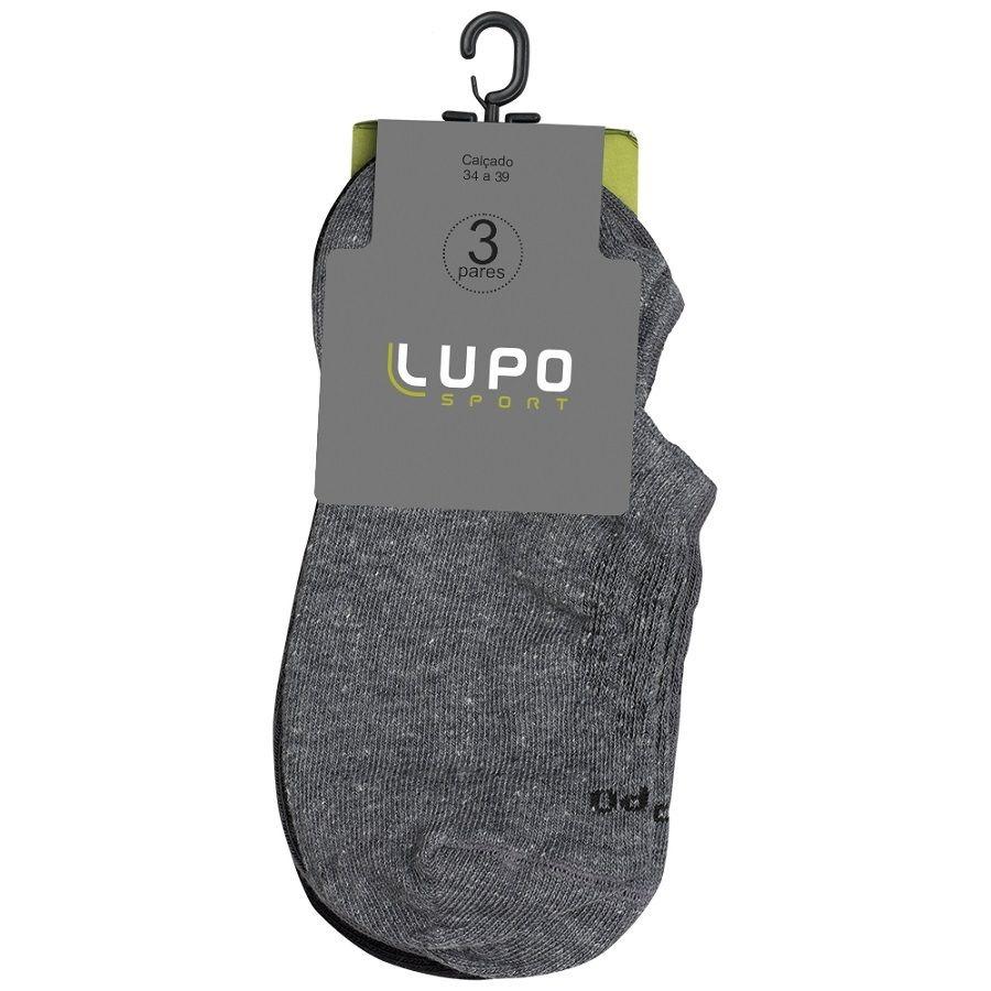 d0f27d9685 kit 3 pares meia sapatilha lupo adulto sport. Carregando zoom.