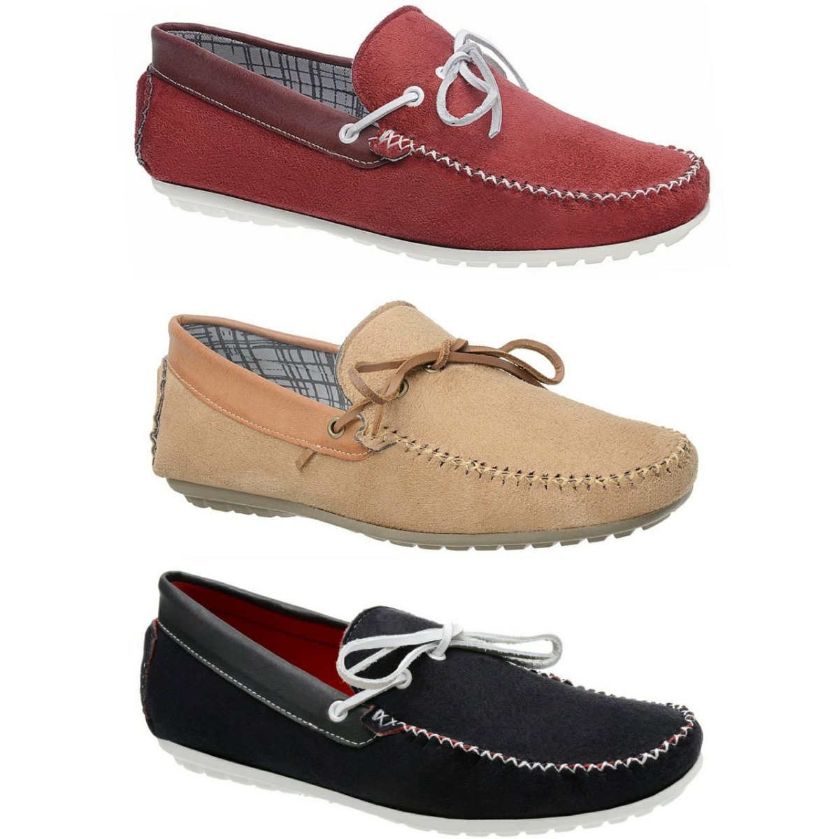 2f77aeb470 kit 3 pares mocassim masculino dockside sapato casual. Carregando zoom.