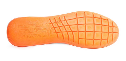 kit 3 pares palmilha conforto gel laranja anatômica acero