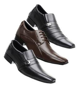 f6b74721e Sapato Social Masculino Em Couro Score 1324 Sapatos Sociais ...