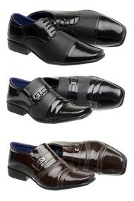 b08c03c5d Sapato Masculino Verniz Outros Tipos - Sapatos com o Melhores Preços no  Mercado Livre Brasil
