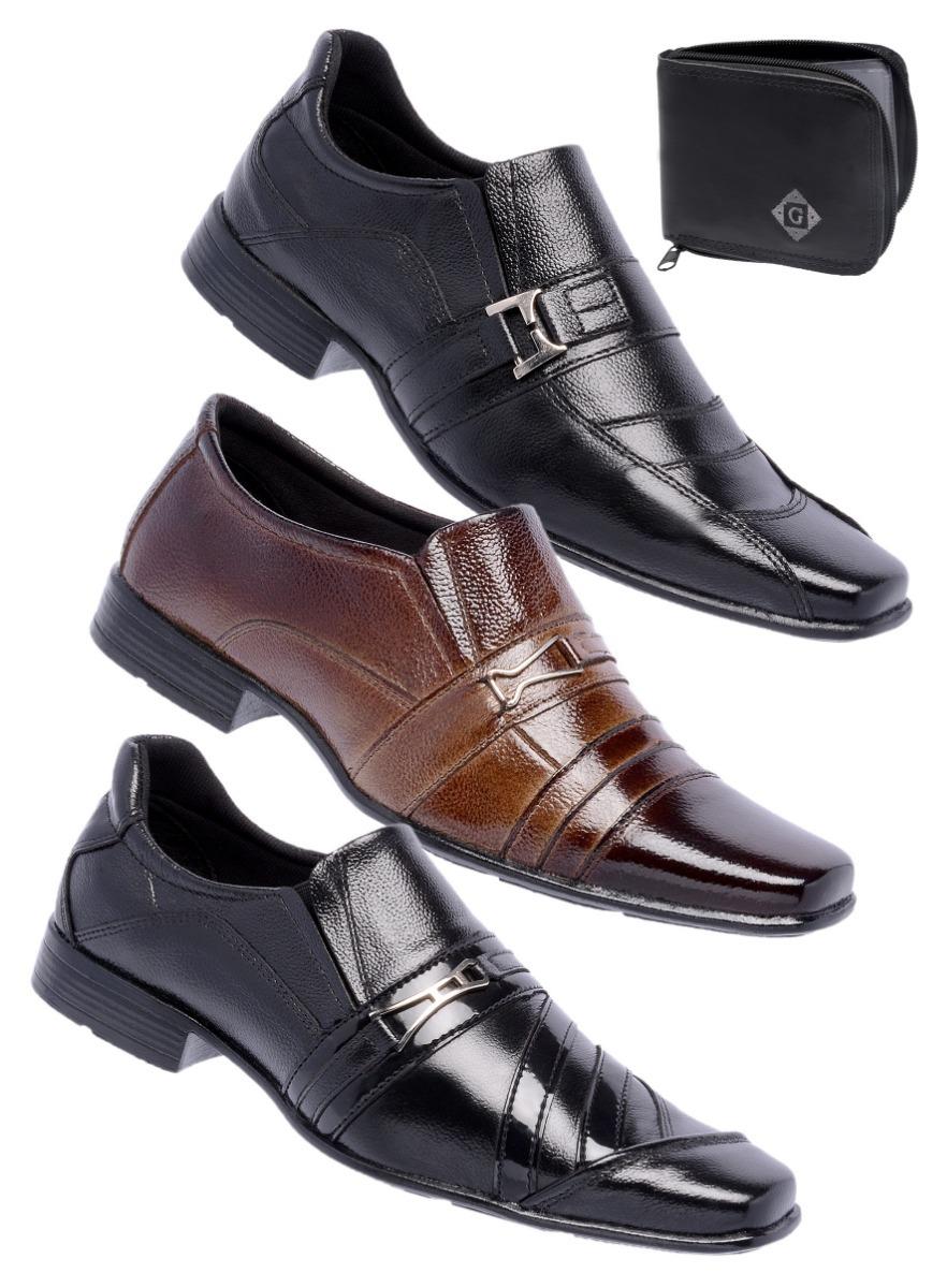 5d3c8e759d ... sapato social couro + carteira promoção conforto. Carregando zoom.