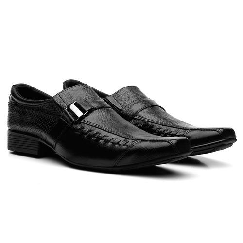 kit 3 pares sapato social masculino em couro franca