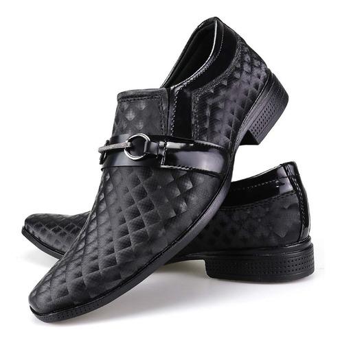 kit 3 pares sapato social masculino leve verniz original dhl