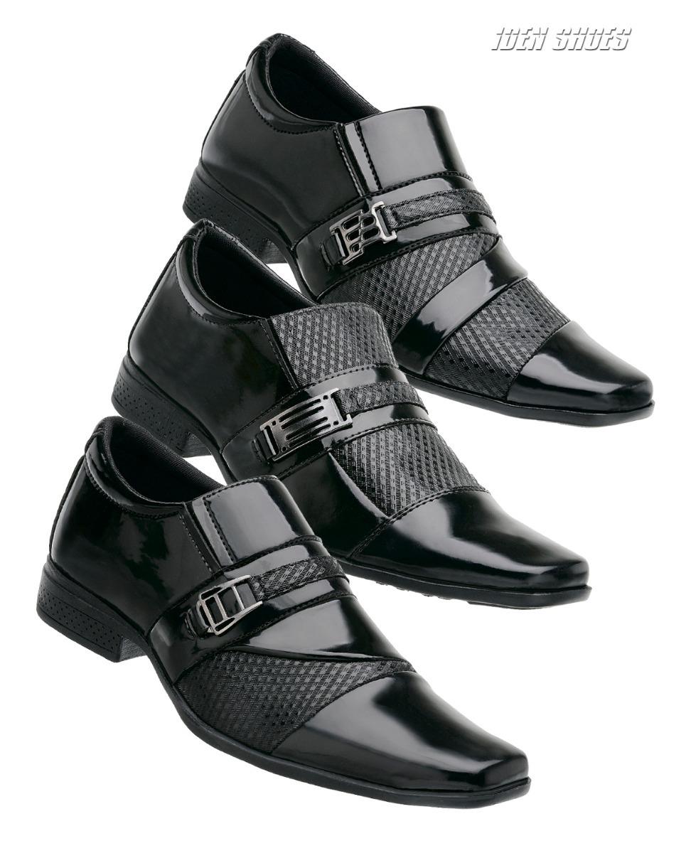 49372a103 Kit 3 Pares Sapatos Social Masculino Verniz L S 03 - R$ 116,90 em ...