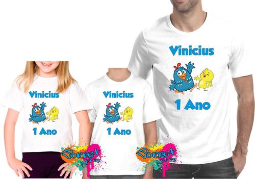 kit 3 pçs camisa personalizada qualquer tema para festa a3