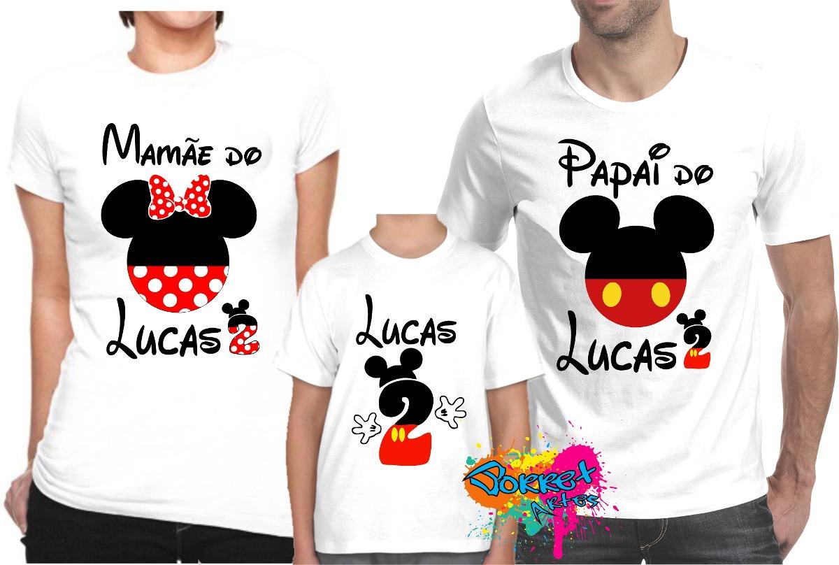 c3896a76b0 kit 3 pçs camiseta - camisa p  festa personalizada mickey a3. Carregando  zoom.