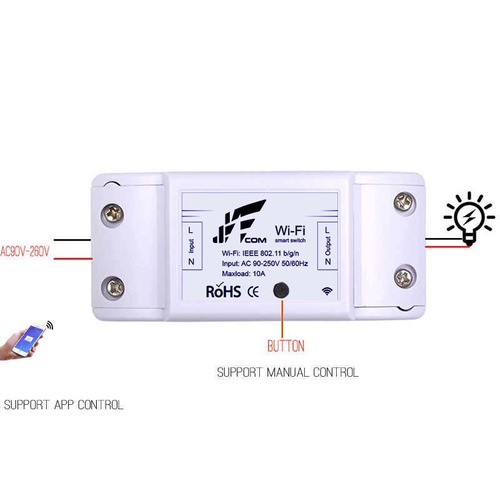 kit 3 pcs interruptor wifi  rele alexa google sa -01 automa