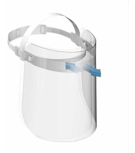 kit 3 pçs mascara faceshild reutilizável hospitalar acrílico