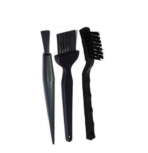 kit 3 pcs pincel escova esd antiestatica limpeza placa pc