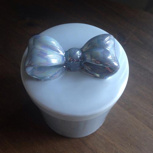 kit 3 peças banheiro laço porcelana pintado à mão