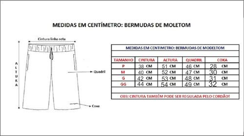 kit 3 peças bermuda moleton modelo masculina frete grátis