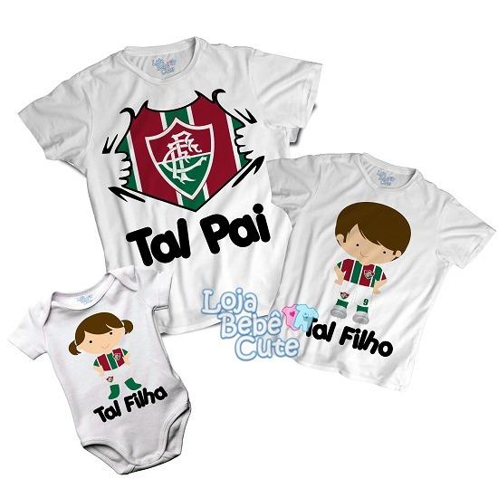 d8f923c687 Kit 3 Peças Tal Pai Tal Filhos Time Fluminense Qualquer Time - R  87 ...